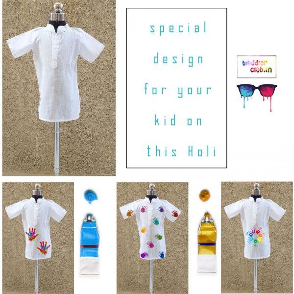 23 white holi shirts for boys