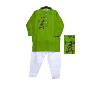 Green Monkey Print