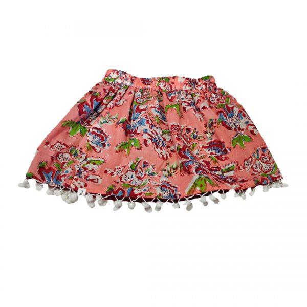 peach reversible skirt