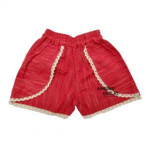 red ikat shorts