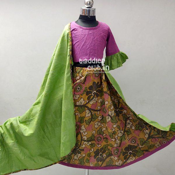magenta green floral01