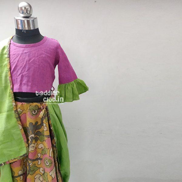 magenta green floral02