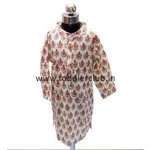 Kids Printed offwhite kurta payjama set