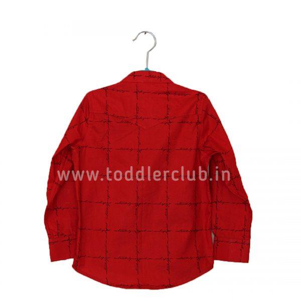 red checks shirt back
