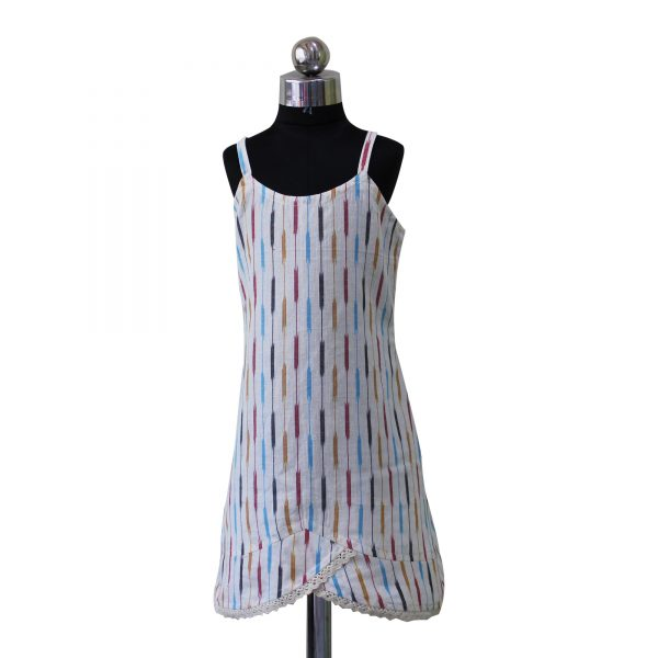 White Mount Sooth Ikat Dress